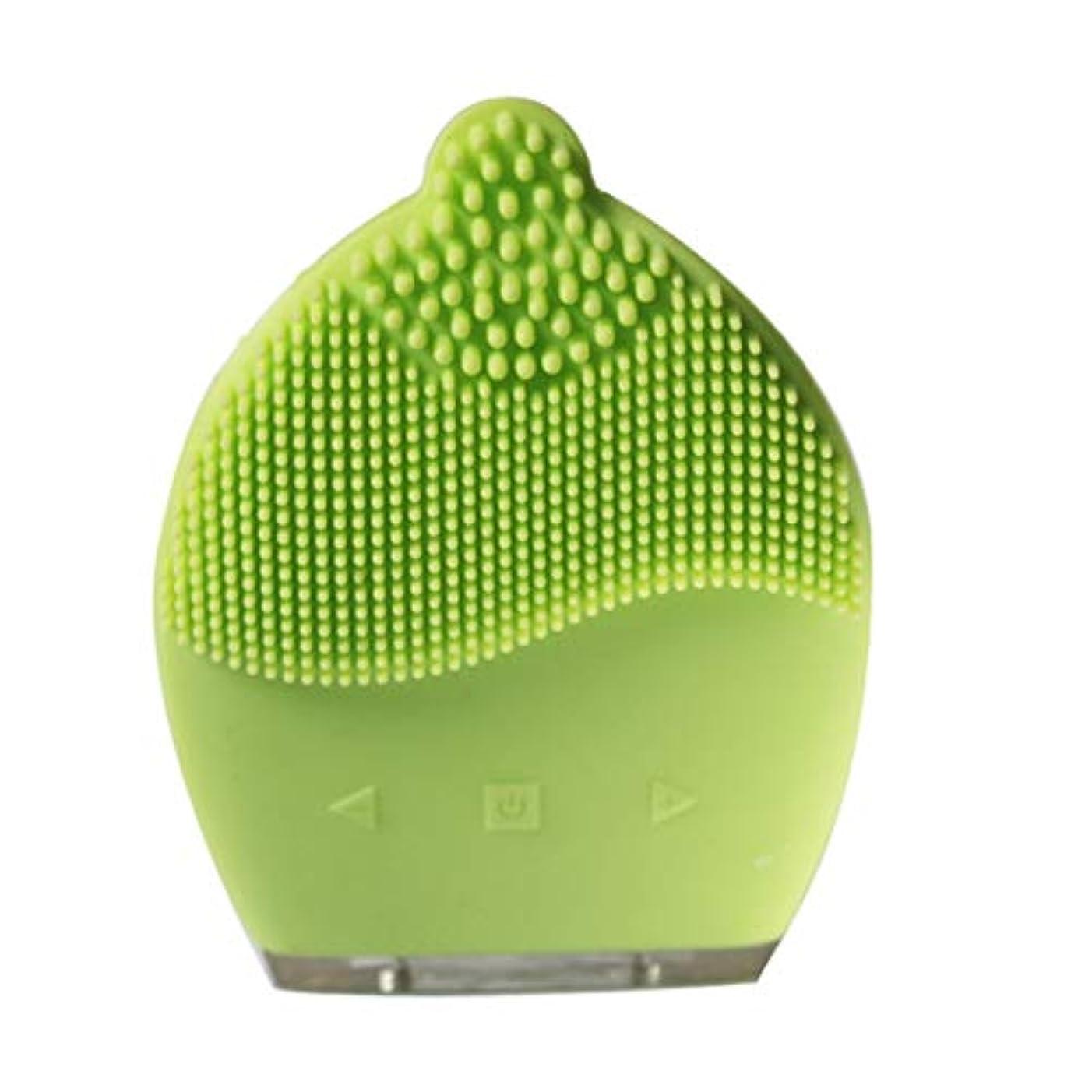主権者化学者スライスCAFUTY 超音波シリコン電気洗浄器具 除染黒髪洗浄 洗浄ブラシ (Color : イエロー)