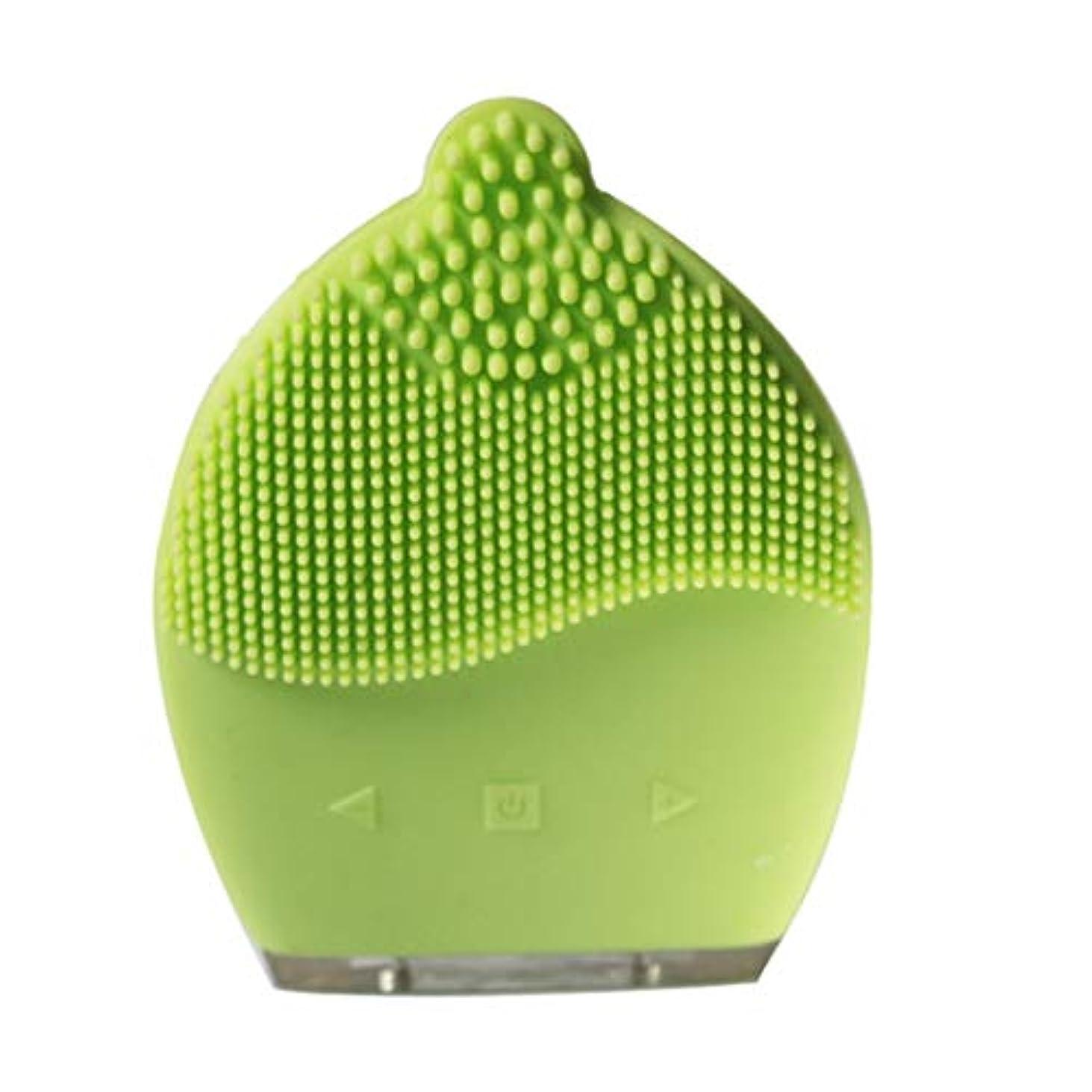 人工的な故障良心CAFUTY 超音波シリコン電気洗浄器具 除染黒髪洗浄 洗浄ブラシ (Color : イエロー)
