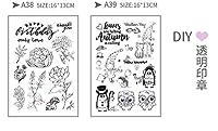 (ランナー)RUNNER-JP 手帳 誕生日 DIY 印鑑 道具 クリアスタンプ 手作りスタンプ かわいい 透明 面白い (13)