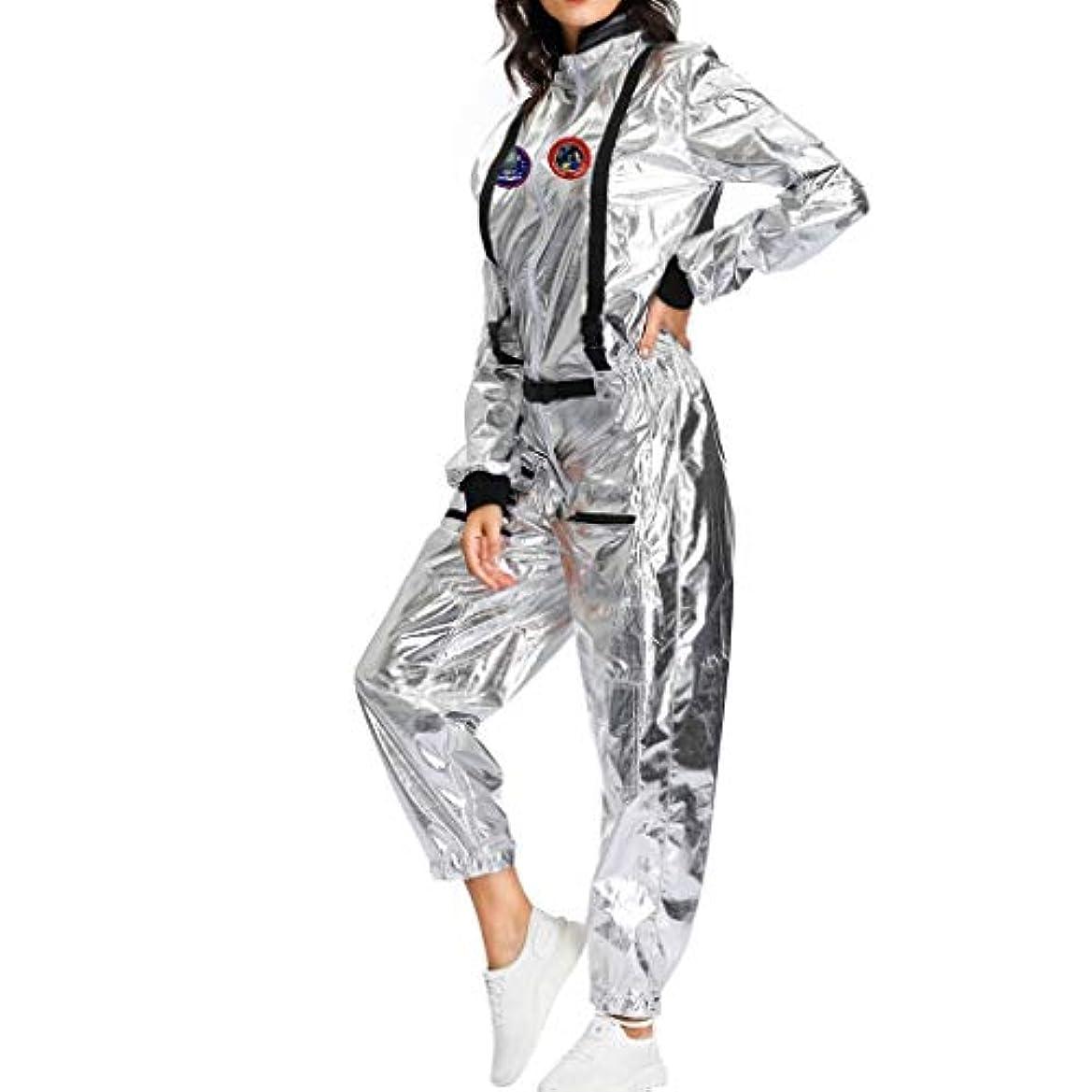 家族の量クライアント女性ハロウィン宇宙服コスプレロングスリーブコスチュームプレイジャンプスーツcosplay コスチューム パーティードレス仮装 小道具 衣装セット ハロウィン仮装 コスチューム ディース メンズ 大人