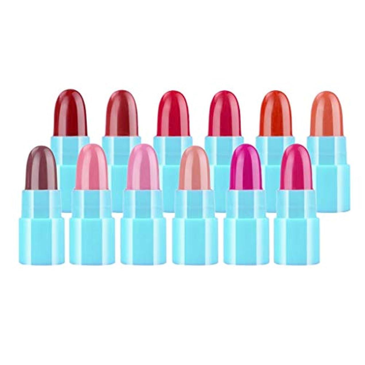 リサイクルする理想的にはセメントKESOTO 12色 リップスティック 口紅 ミニ 保湿  滑らかな唇