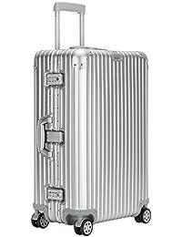 クロース(Kroeus) スーツケース アルミ・マグネシウム合金 TSAロック 大型8輪キャスター 無段階キャリーバー キャリーケース 大容量 人気 旅 出張