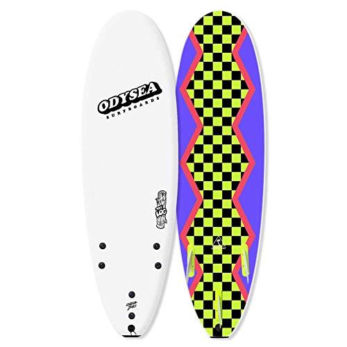 ソフトサーフボード CATCH SURF ODYSEA LOG 6'0 WHITE/80'S STEEZE/キャッチサーフ ログ ホワイト