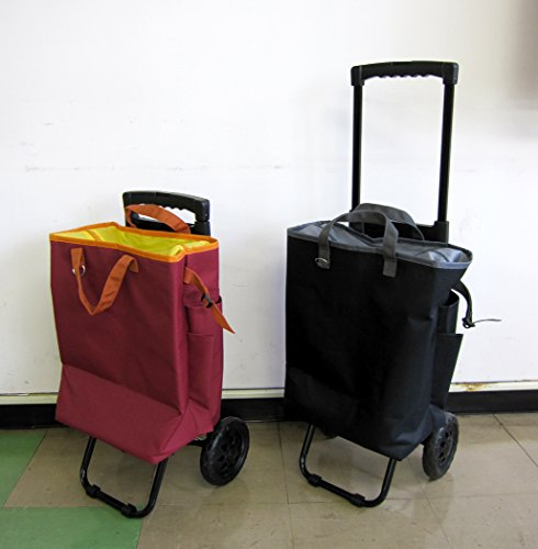 tote carry(トートキャリー) 保冷機能付きショッピングカート ブラック 5835