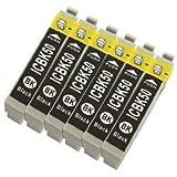 ICBK50 エプソン 互換インク IC50 ブラック 6個セット 黒 EPSON ICチップ付 1年保証付 プリンター保証付