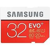 Samsung SDHCカード 32GB EVO+ Class10 UHS-I対応 (最大読出速度80MB/s:最大書込速度20MB/s) MB-SC32D/FFP