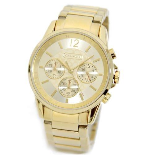 [コーチ]COACH 腕時計 メンズ レディース 14501505 クロノグラフ シグネチャー ゴールド [並行輸入品]