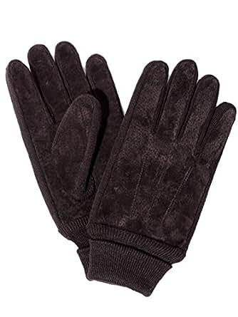 スウェード レザー グローブ 革 手袋 (ブラウン)