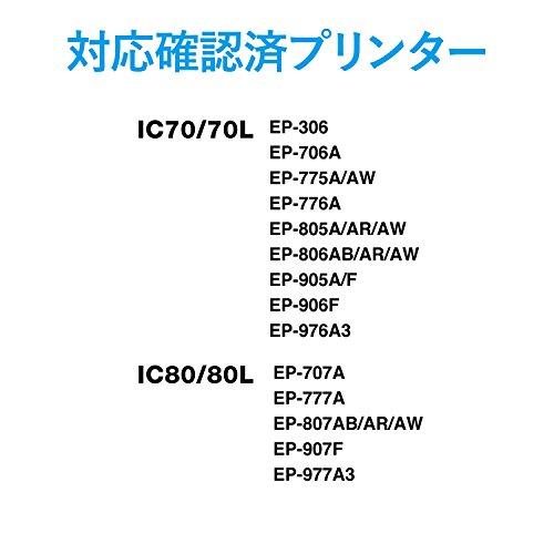 エレコム 詰替えインク エプソン IC70IC80対応 シアン 4~5回分 THE-8070C4 1個