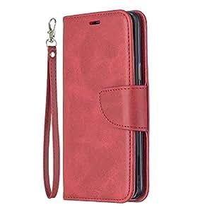 Docrax Galaxy S9 / docomo SC-02K / au SCV38 ケース 手帳型 スタンド機能 財布型 カードポケット マグネット ギャラクシーS9 手帳型ケース レザーケース カバー - DOBFE150218 赤