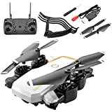 IPOTCH WiFi FPV Drone with 4K Wide-Angle HD Camera Live Video RC Quadcopter with Altitude Hold, Gravity Sensor Function - White
