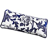 Prettyia Lavender + Flax Seed Filled. Silk Fabric Eye Pillow Use for Yoga, Natural Sleep Aid, Meditation, Great Relaxation Gift