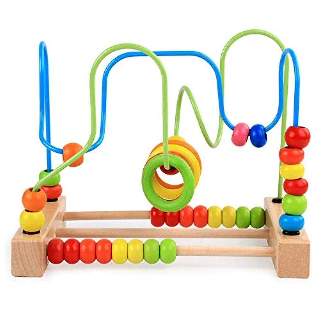 海外で受益者かすれたビーズコースター ルーピング おもちゃ 子供 知育玩具 セット ベビー 早期開発 男の子 女の子 誕生日の木製 マルチアクティビティ ボックス