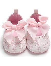 [Folimmy] 女の子 ガールズ ベビー 子供 赤ちゃん フォーマル キッズ シューズ 子供靴 リボン 無地 幼児 柔らかい 歩行サポート 通気性 可愛い カジュアル 結婚式 出産祝い 誕生日プレゼント