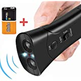 k9konnection Anti Barking Device with Bonus Two Dog Whistles | Pet Gentle Trainer Ultrasonic for Dogs | Bark Control Devices for Indoor and Outdoor Pet Trainer