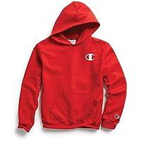 Champion Boys Unisex-Child OS790A Graphic Fleece Hoodie Hooded Sweatshirt - red - Medium