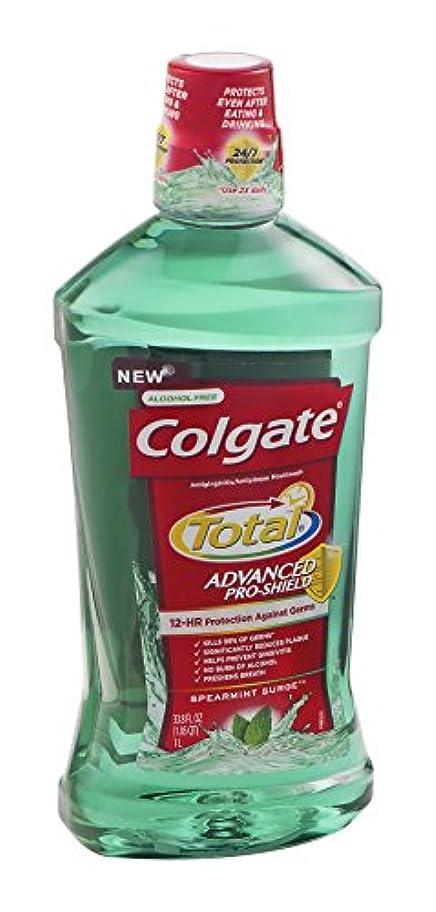 Colgate 総高度なプロシールドうがい薬、スペアミントは33.8オズサージ