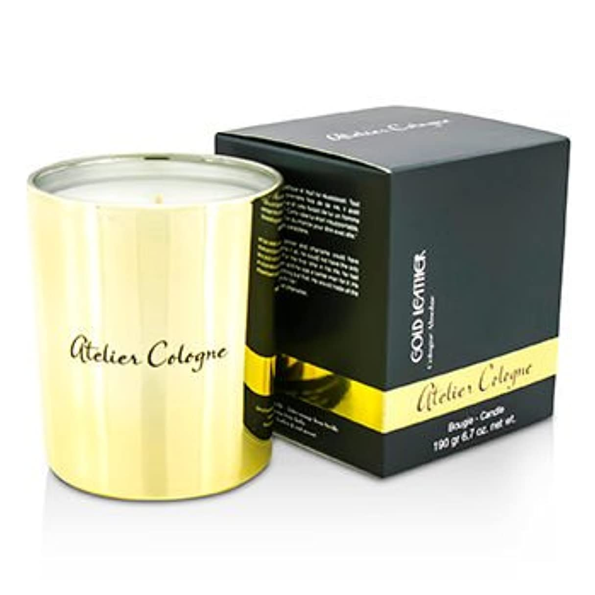 クラフト推進フィールド[Atelier Cologne] Bougie Candle - Gold Leather 190g/6.7oz