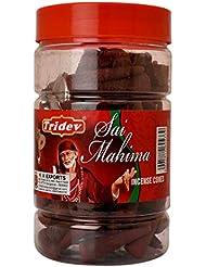 Tridev Sai Mahima フレグランス コーン型お香瓶 1350グラム ボックス入り | 6瓶 225グラム 箱入り | 輸出品質