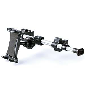 iKross ヘッドレスト取付式 タブレット対応 車載ホルダー 7-10インチ スマホ車載ホルダー 長いタイプ
