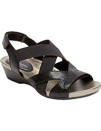 (アラヴォン) Aravon レディース シューズ・靴 サンダル・ミュール Standon X Strap Slingback Wedge Sandal [並行輸入品]
