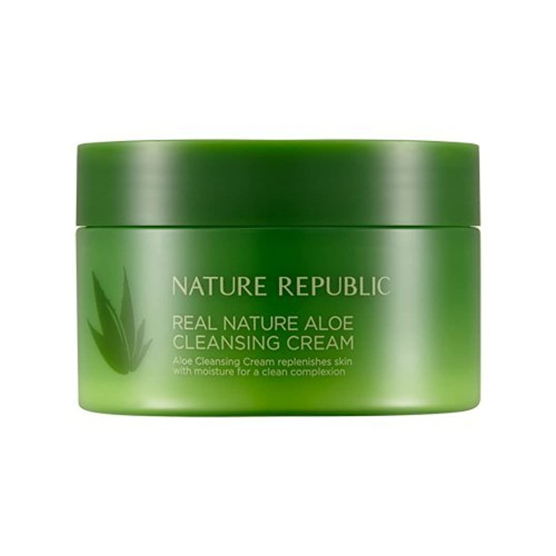 グループ統治する野心Nature Republic Real Nature Aloe Cleansing Cream / ネイチャーリパブリックリアルネイチャーアロエクレンジングクリーム200ml