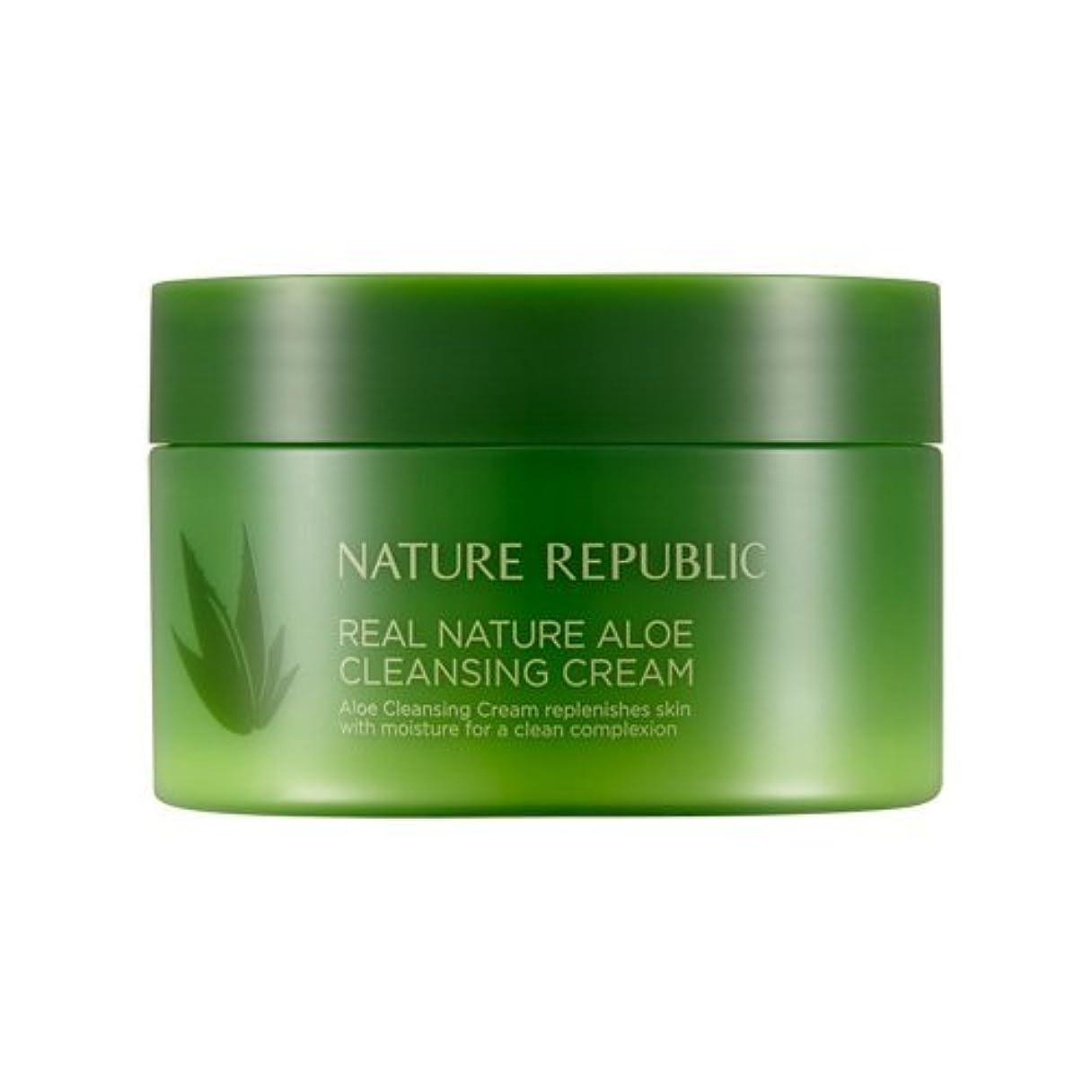 傷跡苛性毎日Nature Republic Real Nature Aloe Cleansing Cream / ネイチャーリパブリックリアルネイチャーアロエクレンジングクリーム200ml
