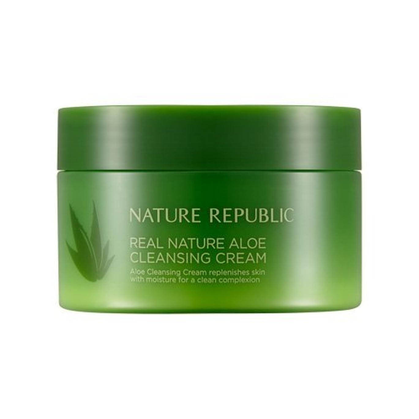 不実シェル重要なNature Republic Real Nature Aloe Cleansing Cream / ネイチャーリパブリックリアルネイチャーアロエクレンジングクリーム200ml