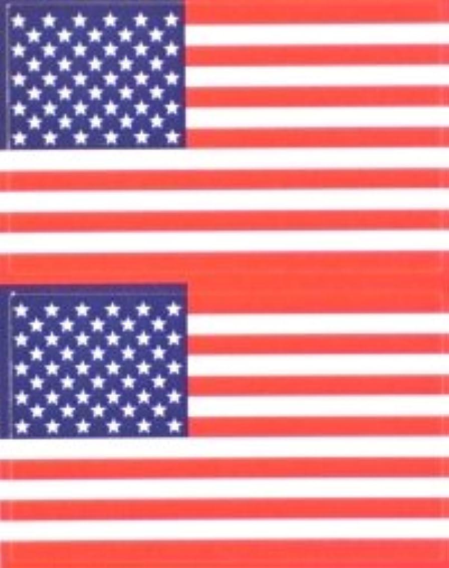 トランクライブラリ下キャッシュ星条旗(米国旗?アメリカ)★フェイスシール【応援(サポーター)】/1シート2枚組