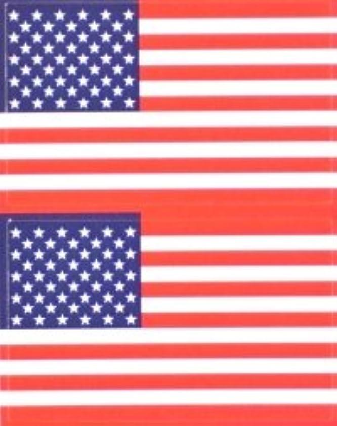 約肉の微弱星条旗(米国旗?アメリカ)★フェイスシール【応援(サポーター)】/1シート2枚組