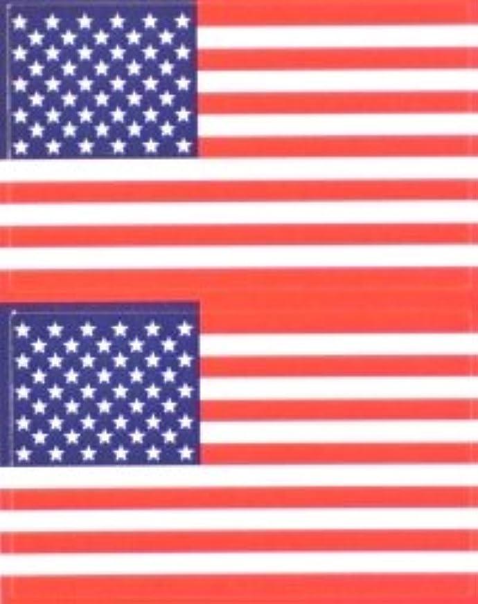 思いつく空の説明的星条旗(米国旗?アメリカ)★フェイスシール【応援(サポーター)】/1シート2枚組