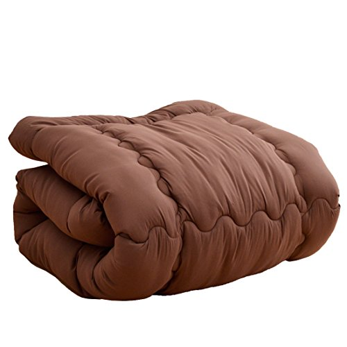 タンスのゲン 掛け布団 シンサレート ウルトラ150全面使用 東レft綿使用 洗える 日本製 シングル ブラウン ...