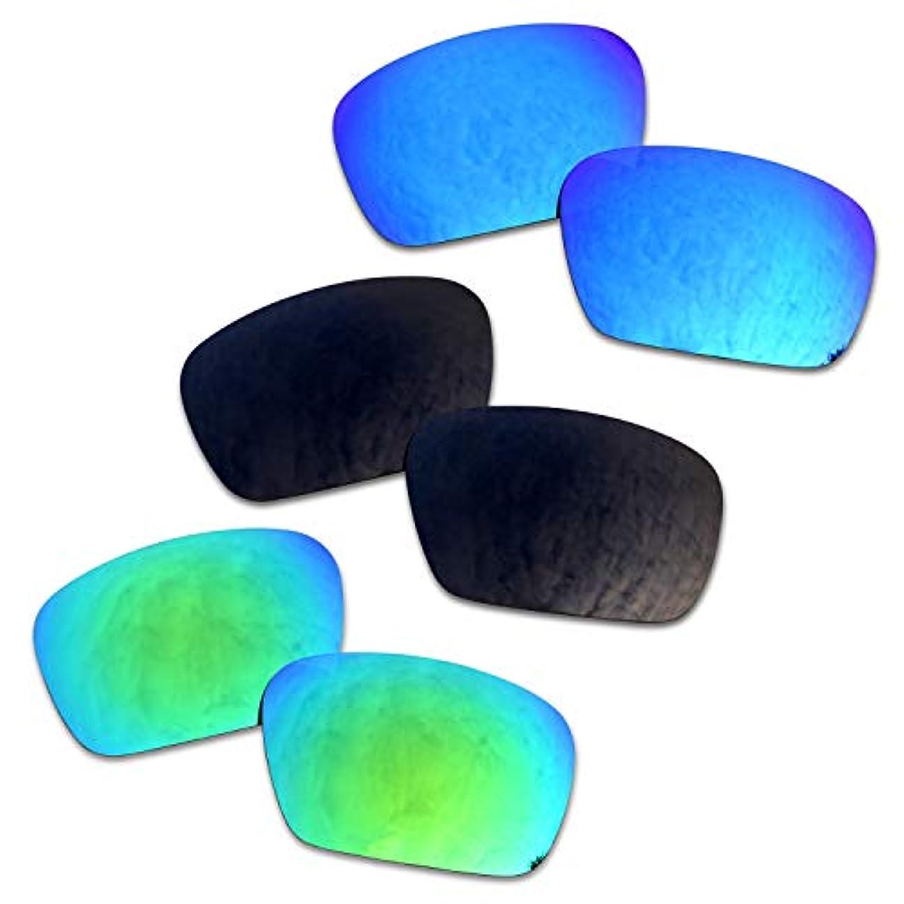 ディスカウント式名前を作るSOODASE 為に Oakley Badman サングラス ブルー/ブラック/グリーン 偏光交換使用するレンズ