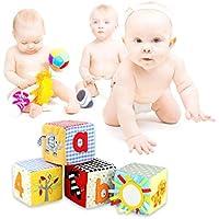 Tivolii 乳幼児用リングガラガラガラ 4個入り 知育玩具 ソフトビルディングブロック 思考能力の発達
