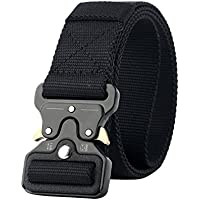 Jipai(TM) Mens Belt Cobra Tactical Military Style Web Belt with Quick-Release Metal Buckle
