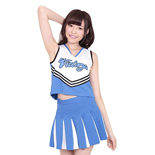 A &Tcollection sky ☆ cheer cheerleader costume Blue Ladies