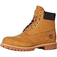 Timberland Men's 6-Inch Premium Waterproof Boots, Mens Shoes, Yellow (Wheat Nubuck), 7 US