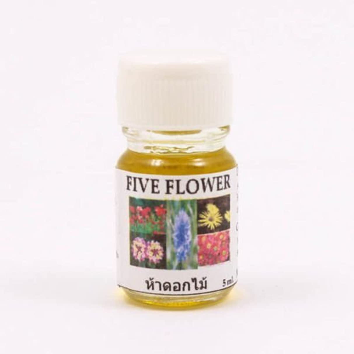 ロゴ議題薬理学6X Five Flower Aroma Fragrance Essential Oil 5ML Diffuser Burner Therapy