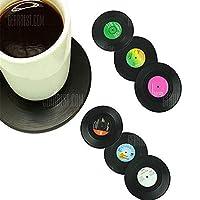 107mm Retro Vinyl Record Disk Coasters 6pcs