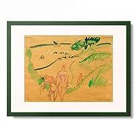 エルンスト・ルートヴィヒ・キルヒナー Ernst Ludwig Kirchner 「Badende an der Fehmarnkuste」 額装アート作品