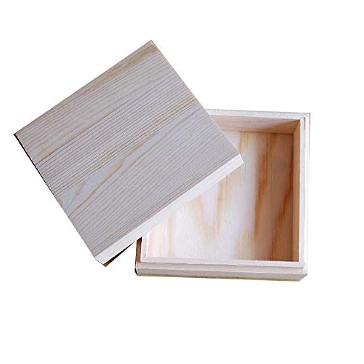 松の木花火涙木製のエッセンシャルオイルストレージボックス安全に油を維持するためのベスト アロマセラピー製品 (色 : Natural, サイズ : 11.5X11.5X5CM)