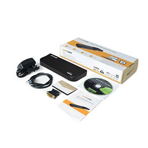 『Wavlink USB 3.0 ユニバーサル・ドッキングステーショ・デュアル ビデオモニタ・ディスプレイ 最高解像度2048x1152のDVI & HDMI & VGA ポート、ギガビット・イーサネットポート、オーディオ、6つのUSBポートはラップトップ、ウルトラブック、PCなどに対応 USB 3.0 ポートx2、USB 2.0 ポートx4、PSE認定されたAC12V2A 電源アダプター付』の6枚目の画像