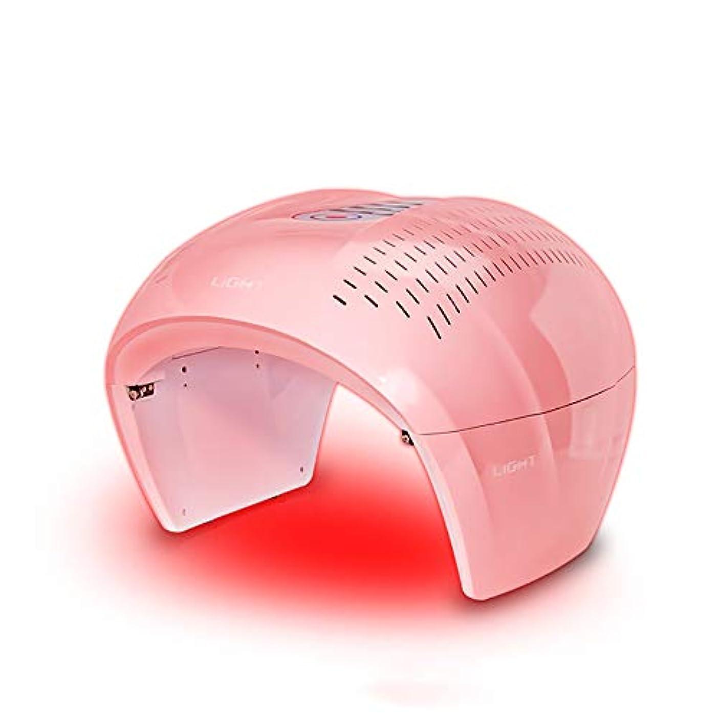 時期尚早納税者巻き取り4色ledフェイシャルマスク療法ライトポータブルフォトンpdtにきび療法しわ除去アンチエイジング肌の若返りスキンケア美容機