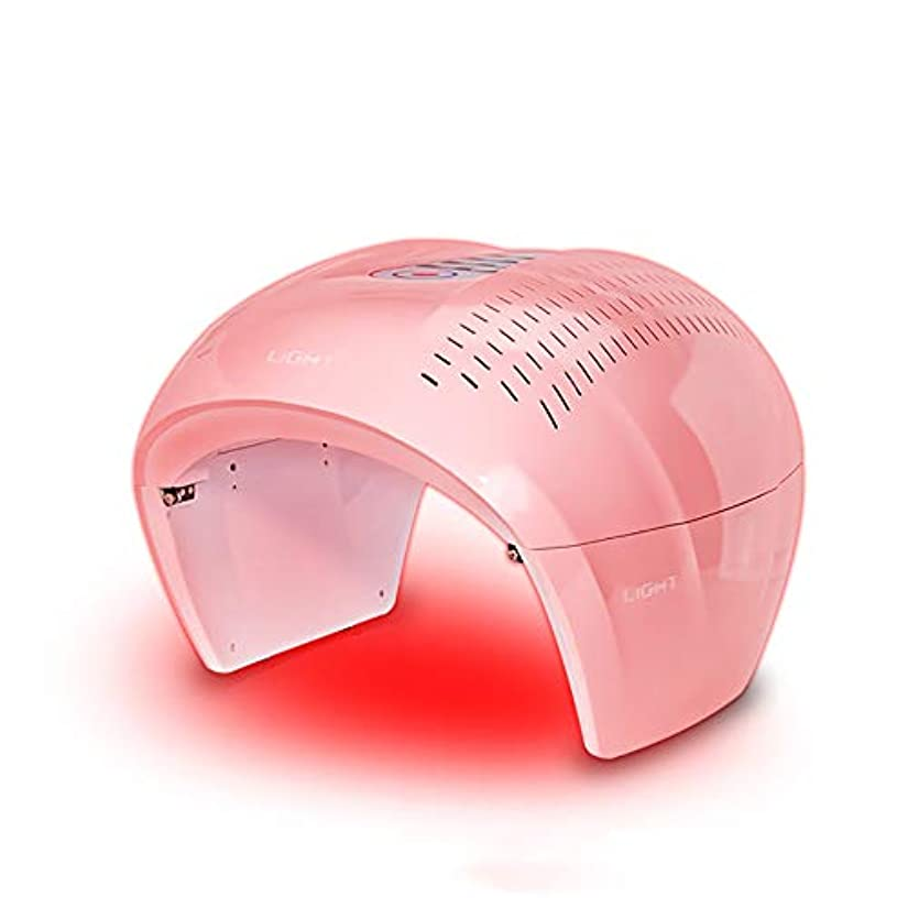 交じる衝突するやる4色ledフェイシャルマスク療法ライトポータブルフォトンpdtにきび療法しわ除去アンチエイジング肌の若返りスキンケア美容機
