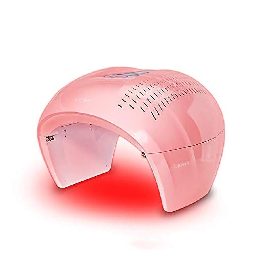 修復メガロポリス規制4色ledフェイシャルマスク療法ライトポータブルフォトンpdtにきび療法しわ除去アンチエイジング肌の若返りスキンケア美容機