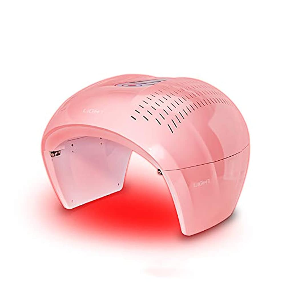 怠感円周エキサイティング4色ledフェイシャルマスク療法ライトポータブルフォトンpdtにきび療法しわ除去アンチエイジング肌の若返りスキンケア美容機