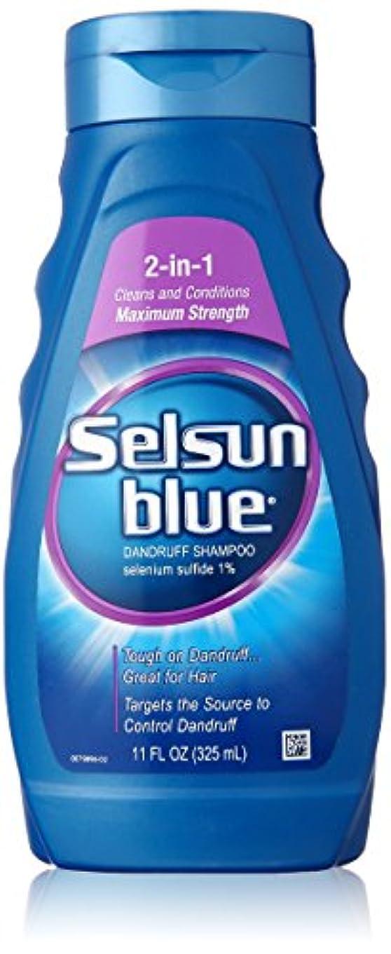モーターコーチバクテリアSelsun Blue Naturals Dandruff Shampoo 2-In-1 Strength 325 ml (並行輸入品)