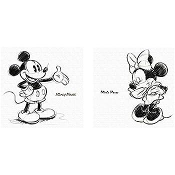 アートデリ ポスター パネル ミッキー ミニー Disney ディズニー 30cm × 30cm セット 日本製 軽量 ファブリック S
