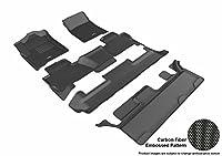 3d MaxpiderカスタムフィットComplete床のマットセットGMC Yukonモデル–Kaguゴム ブラック L1GM01401509