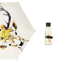 MUMUWU レディース ミニ日傘 折り畳み傘 超軽量 日傘 遮光 晴雨兼用 男女兼用 紫外線カット UPF50+ 紫外線対策 折りたたみ (Color : 12, Size : One Size)